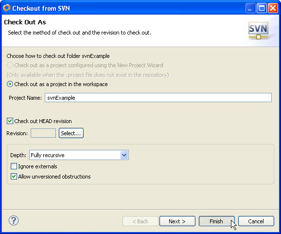 how to create a folder in svn trunk