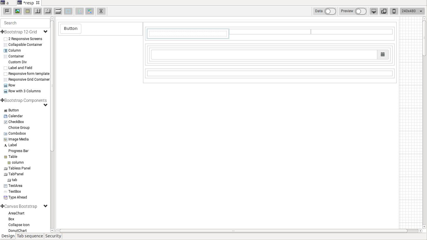 Editing a responsive layout form - Servoy 8 x x Documentation